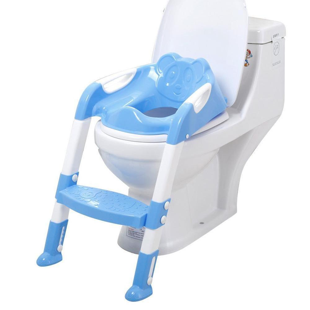 Baby Child Potty Toilet Trainer Seat Step Stool Ladder Adjustable Training Chair Baby Toilet Potty Training