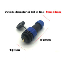 SD20  The core nut is concealed and fixed. waterproof connector 2/3/4/5/6/7/9/10/12/14Pin IP67 original new 100% 5015 ms3108a20 18s ms3102a20 18p 9 american standard aviationplug bent core waterproof connector