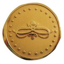 Custom gold coin quality 2D zinc alloy coins