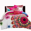 Beddowell Duvet Covet Sets Bohemian Style Boho Print Bedsheet Duvet Cover Pillowcase Adult Double Bed King