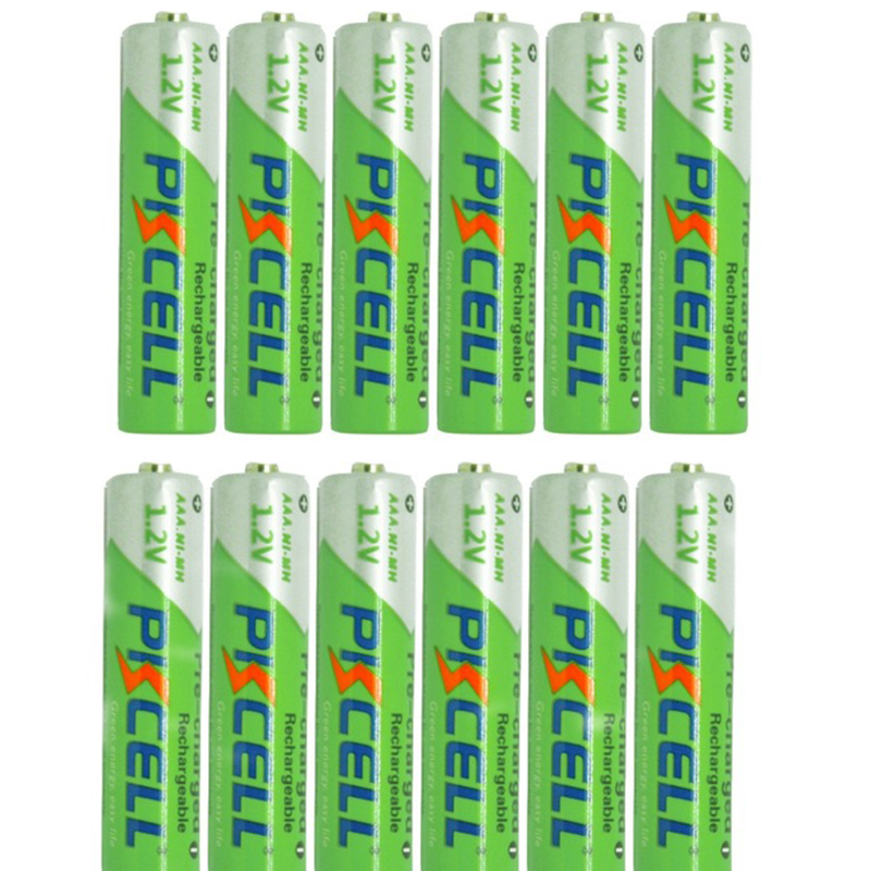 12Pcs PKCELL Ni-MH Low self-discharge 850mAh AAA 1.2V Batteries 3A Rechargeable Baterias Bateria Battery roxy lanai white