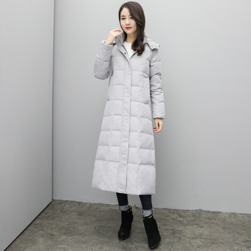 75d62a798268 Aliexpress.com   Buy Womens Long Down Jackets Hooded Knee Length Winter  Duck Down Coats Women Thick Snow Wear Female Down Parkas Overcoats JK 708  from ...