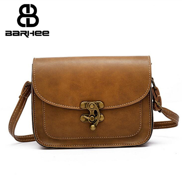 a43cb9588116 BARHEE Vintage Women Small Sling Crossbody Bag Messenger Bag Mini Flap Retro  Flower Lock Simple pu Leather Women Handbag Cheap