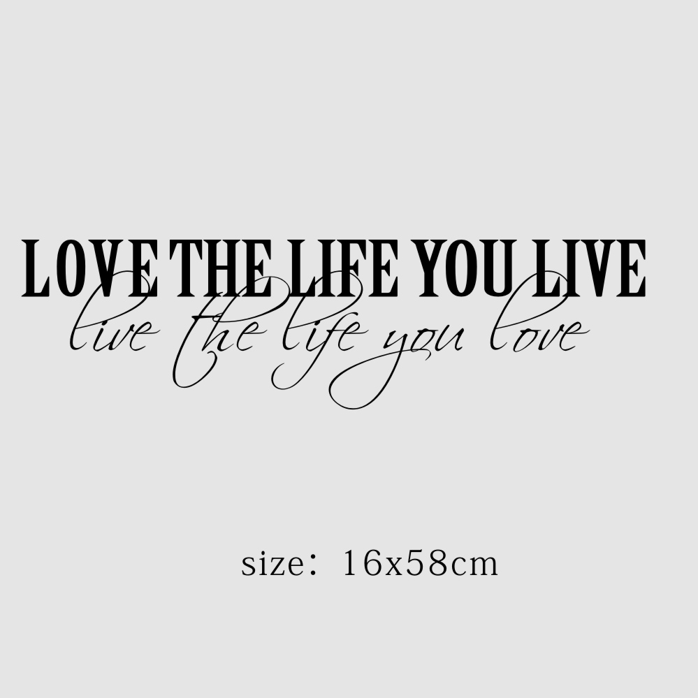 Aliexpress Com Buy Classic Quotes Vinyl Wall Stickers Love The