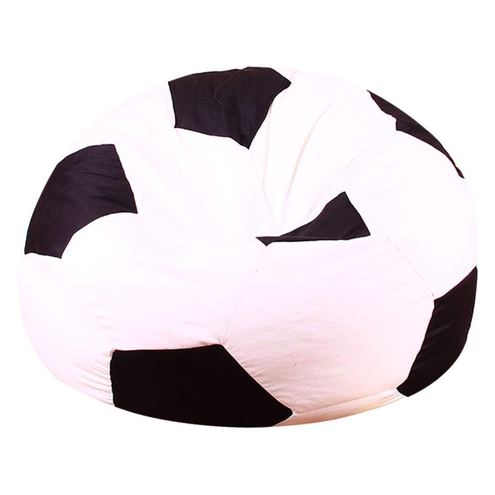 LEVMOON Beanbag Sofa Chair Football  Seat Zac Comfort Bean Bag Bed Cover Without Filling  Just Shell  Basketball Beanbags