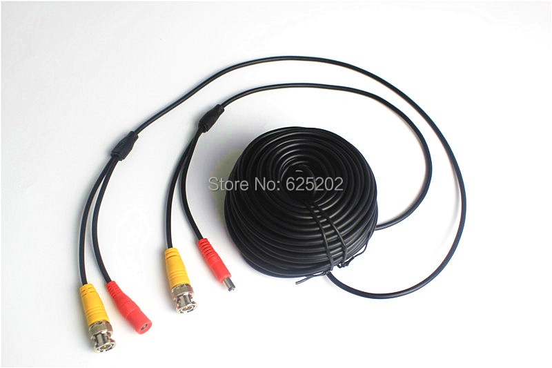 BNC DC Connectors CCTV Camera Extension Cable 50M bnc dc connectors cctv camera extension cable 50m