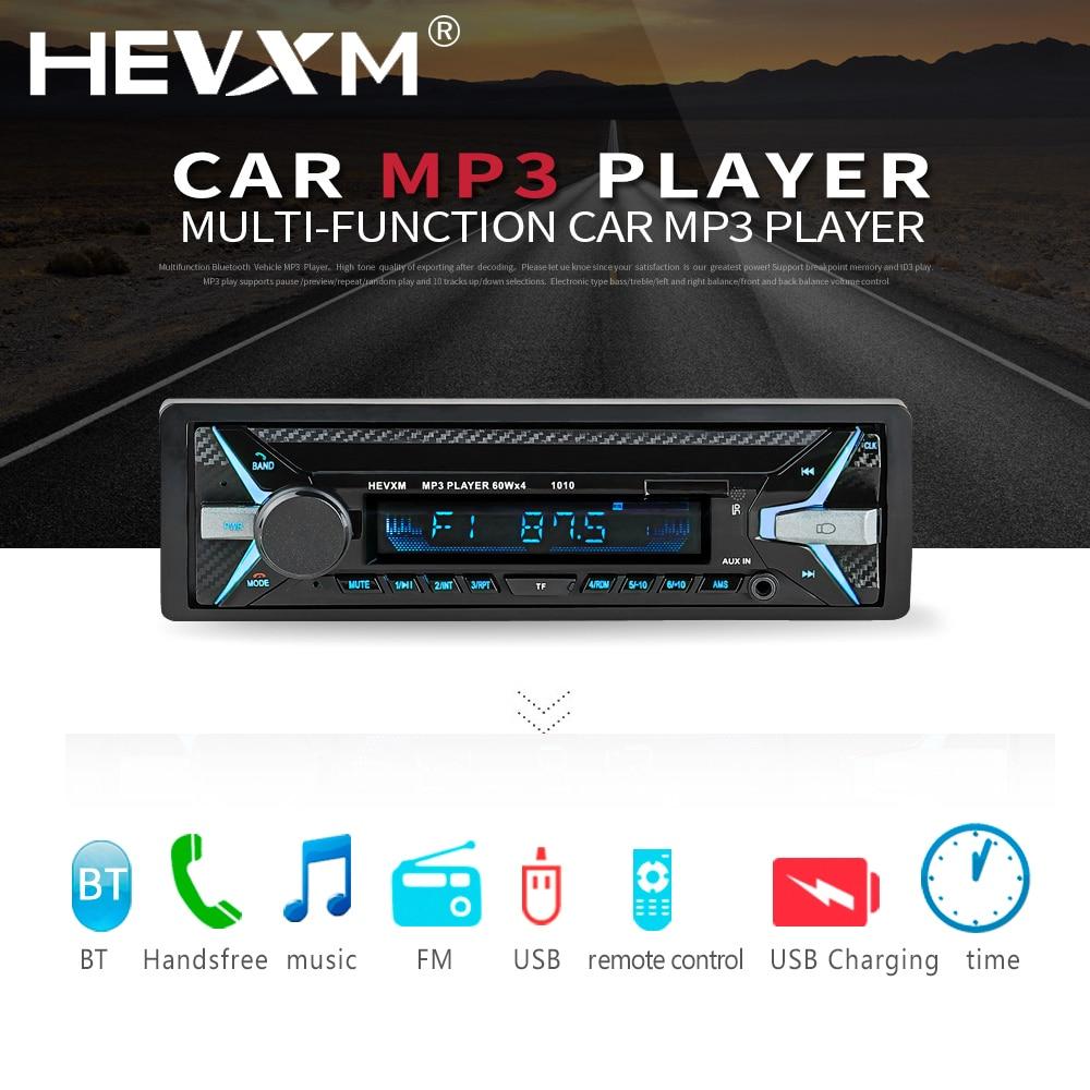 HEVXM Bluetooth 1Din 12V Multi Function Autoradio MP3 Player FM Radio Music Player U Disk Playback Car Audio MP3 player 1010