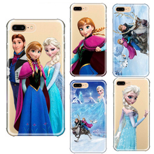 Cartoon Princess Aisha Anna Elsa Kristoff Sven Olaf for iPhone 6 6s 7 8 Plus X 5s SE XR XS MAX 11 pro max