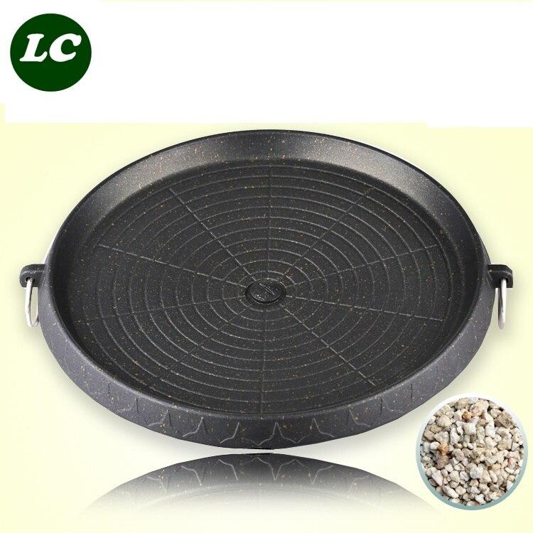 32 cm Barbecue Pentolame e Utensili per cucinare all'aperto utensili da cucina piastra barbecue piastra grill all'aperto antiaderente in acciaio inox titanium forno