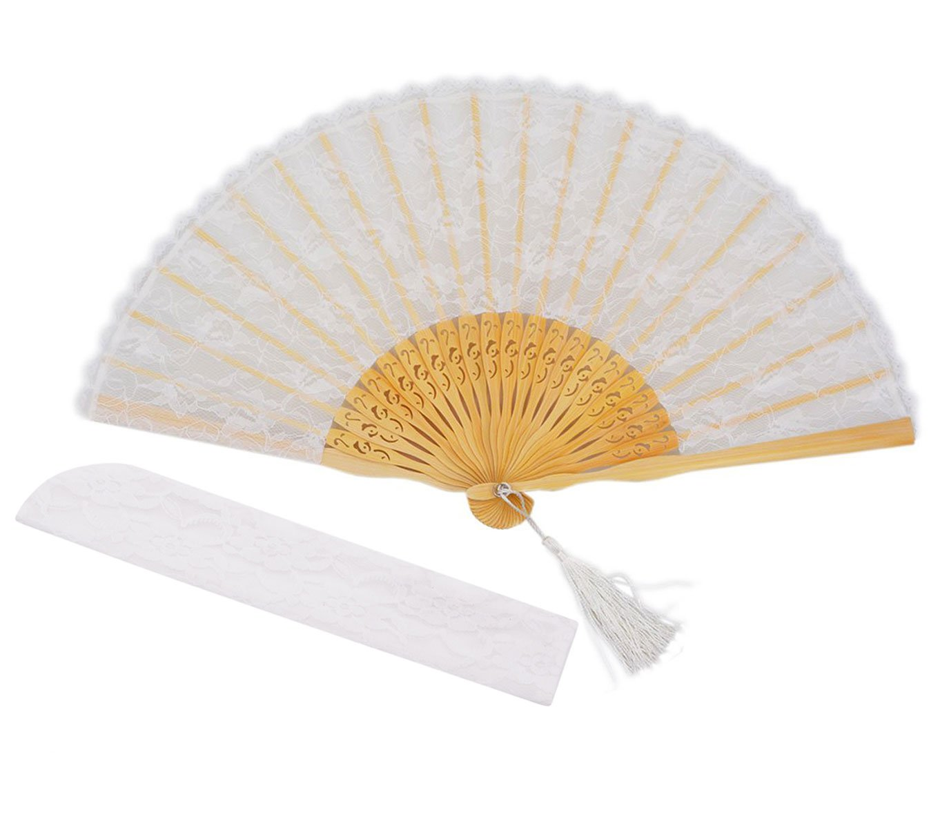 METABLE 2pieces/lot Vintage Style Bamboo Wood Silk Folding Hand Fan for Home Decoration Party Wedding Dancing Gift
