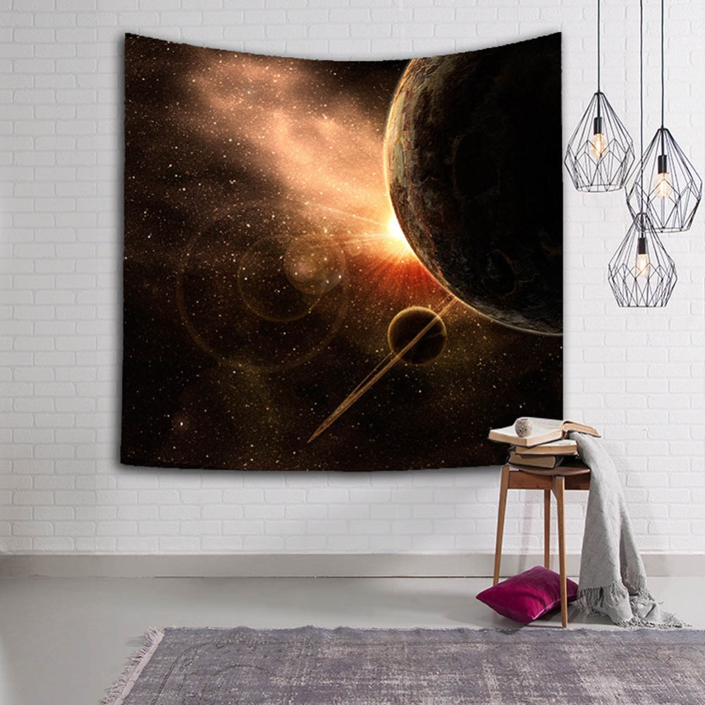 Magnificent Big Bang Nebula Scenery Durable Wall Hanging Starry Aurora Printed Tapestry Yoga Mat Rug Home Decor Art Decoration in Tapestry from Home Garden