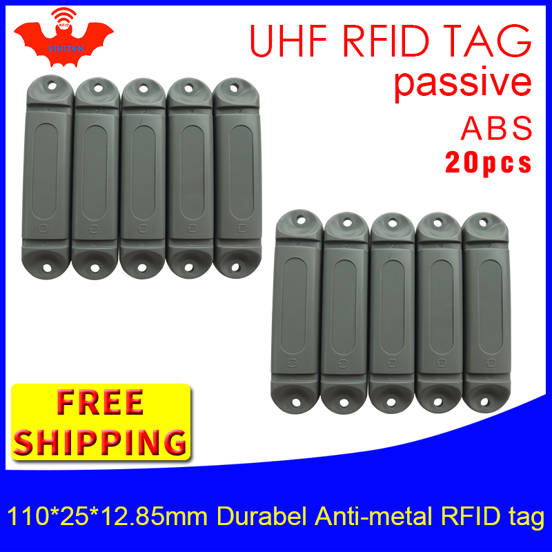 UHF RFID metal tag 915m 868mhz M4QT EPC 110*25*12.85mm 20pcs free shipping durable ABS storing cage smart card passive RFID tags|passive rfid tag|rfid tag|rfid metal tag - title=