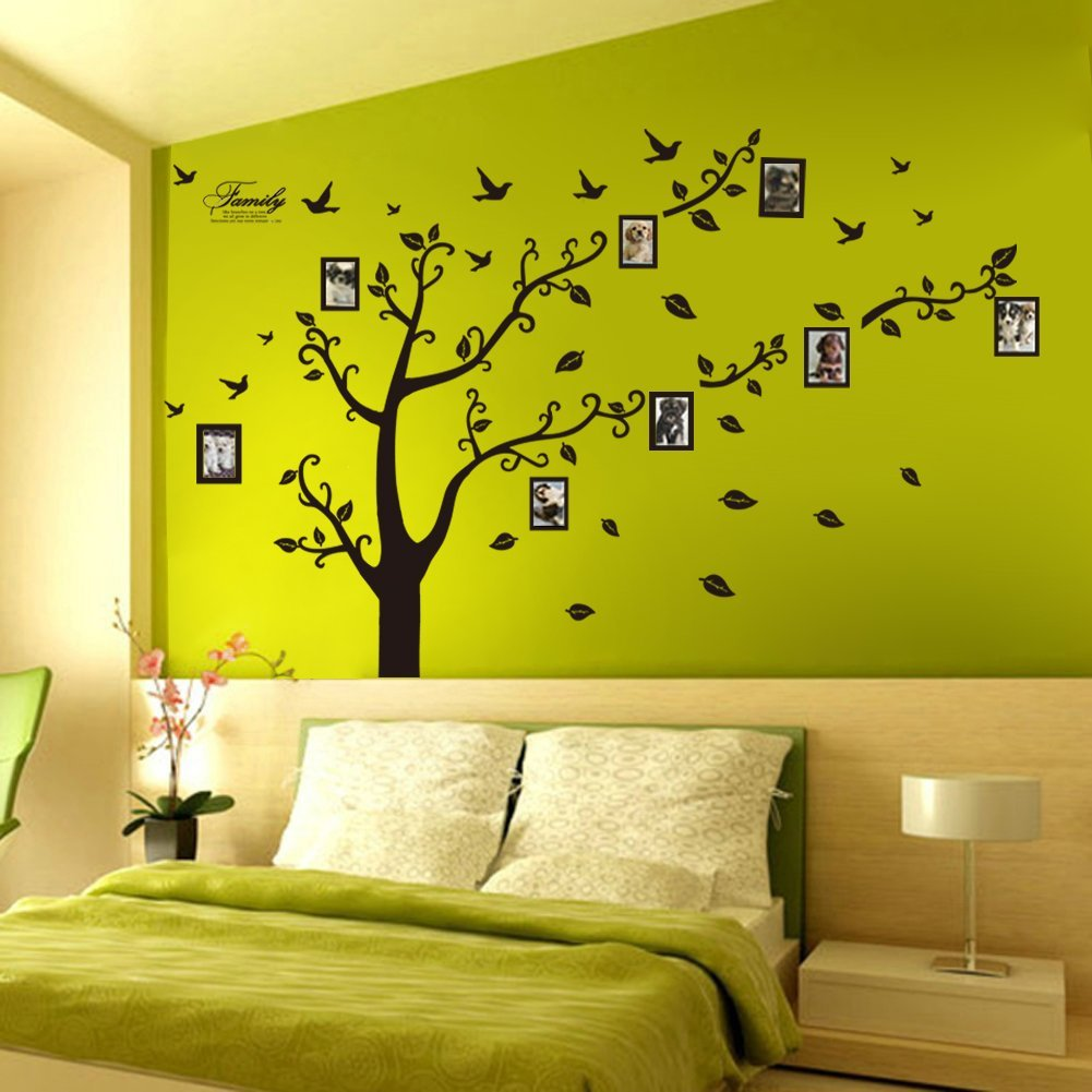 memory family tree photo 1set diy flower love world large art decor home stickers removable. Black Bedroom Furniture Sets. Home Design Ideas