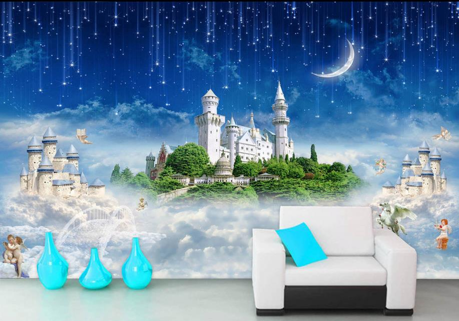 customize 3d wallpaper walls Castle in the Sky 3d mural wallpapers for living room photo wallpaper 3d room wallpaper landscape customize wallpaper for walls 3 d swan lake picture in picture 3d tv backdrop 3d photo wall mural 3d landscape wallpaper