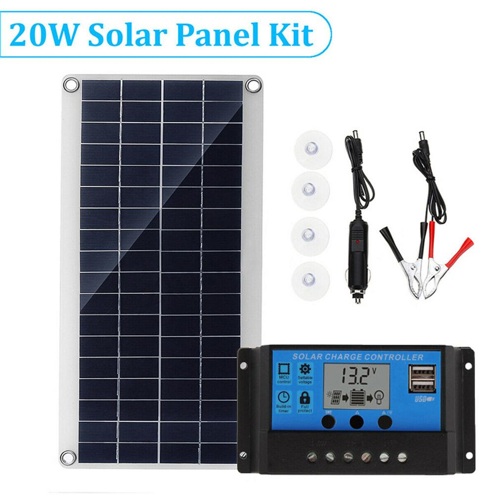 Multi-Purpose Mobile Phone Charging Solar Board 20W Portable Polycrystalline Flexible Solar Power Panel For Laptop Car AirplaneMulti-Purpose Mobile Phone Charging Solar Board 20W Portable Polycrystalline Flexible Solar Power Panel For Laptop Car Airplane