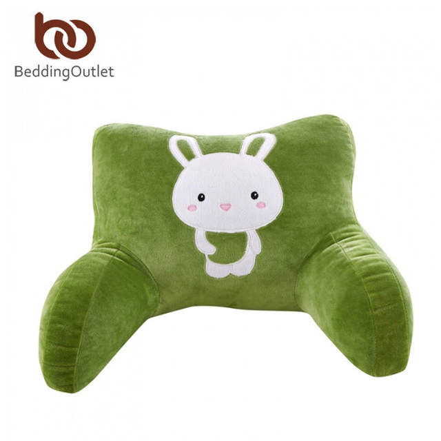 waist cushion rabbit cartoon waist pillow lounger plush bed rest pillows with arms reading seat - Bed Rest Pillow With Arms