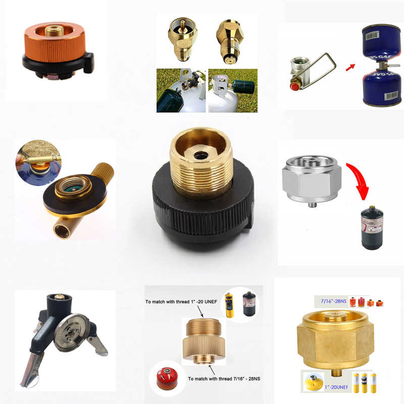 Canister Gas Convertor Shifter Refill Adapter Gas Stove Camping Stove Cylinders + Gas Cartridge Head Conversion Adapter