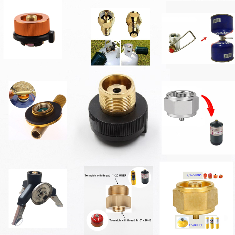 цена на Canister Gas Convertor Shifter Refill Adapter Gas Stove Camping Stove Cylinders + Gas Cartridge Head Conversion Adapter