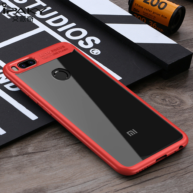 promo code e6d17 baf1f US $4.99 |iPaky For Xiaomi Mi A1 Case Silicone Soft Frame Hard Transparent  Back Phone Cases Cover For Xiaomi Mi 5X Hybrid Armor Holster-in Fitted ...
