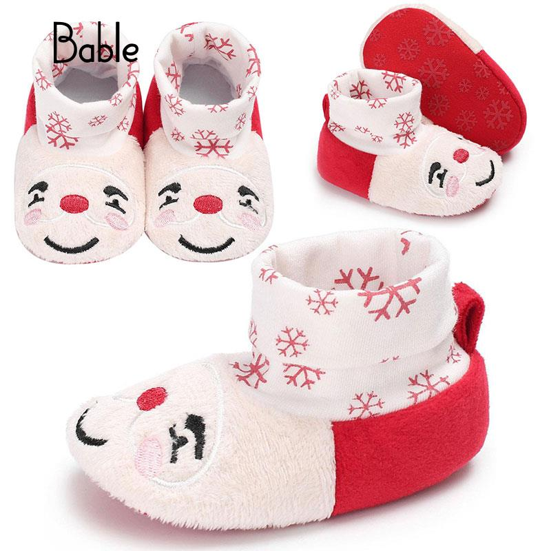 Prewalkers Crib Shoes First Walker White Warm Snowflake Cotton Infant Party Festival Toddler Winter Baby Boots