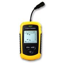 FF1108 1 de la suerte manual rusa, alarma Sónar portátil para buscador de pesca, ecosounder, transductor de 0,7 100M, Sensor de profundidad