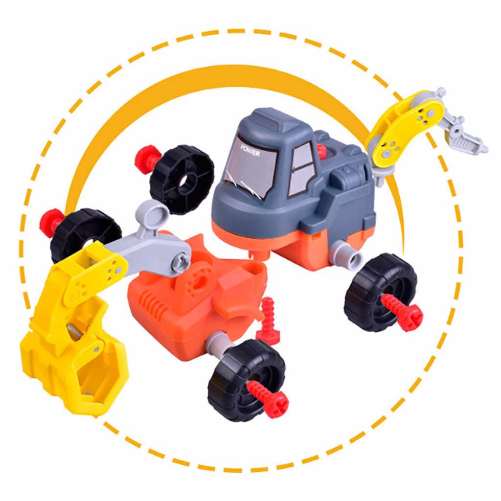 Модель автомобиля машина игрушка разборка сборка бульдозер трактор автомобиль форма игрушки Дети Рождественский подарок гараж для игрушечных автомобилей D300101