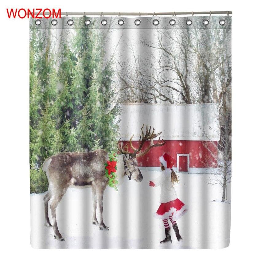 Aliexpress.com : Buy WONZOM 3D Girl Deer Snowman Gift ...