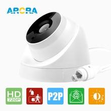 3.6 мм Объектив ONVIF P2P IP Камеры Безопасности 720 P HI3518E 1/4 »CMOS обнаружения Движения Крытый Купольная Ip-камера 1MP Видеонаблюдения