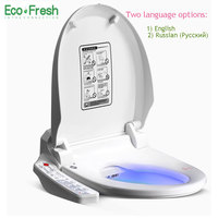 EcoFresh Smart Toilet Seat Washlet Electric Bidet Cover Intelligent Bidet Heat Clean Dry Massage Care For