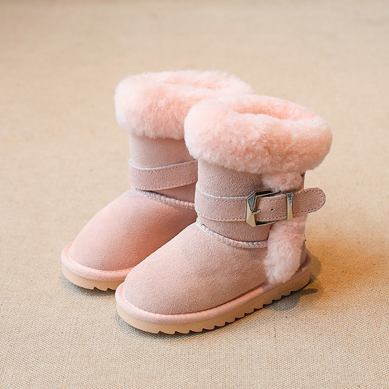 Girls Boots Winter Snow Boots For Girls Rubber Boots Teenager Girls Winter Shoes Children Footwear Fringed