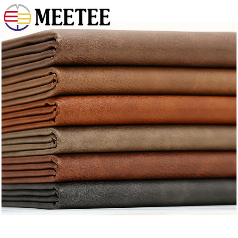 Meetee 50X68CM Faux Artificial Synthetic Leather Fabric for Sewing DIY Bag Shoes Sofa Material Home Decoration Accessories AP479