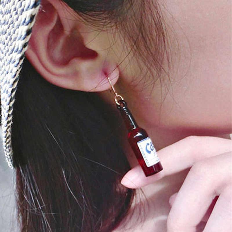 ES442 Beer Bottle Drop Earrings for Women Resin Dangle Drop Statement Earring Fashion Jewelry Brincos 2018 HOT Selling