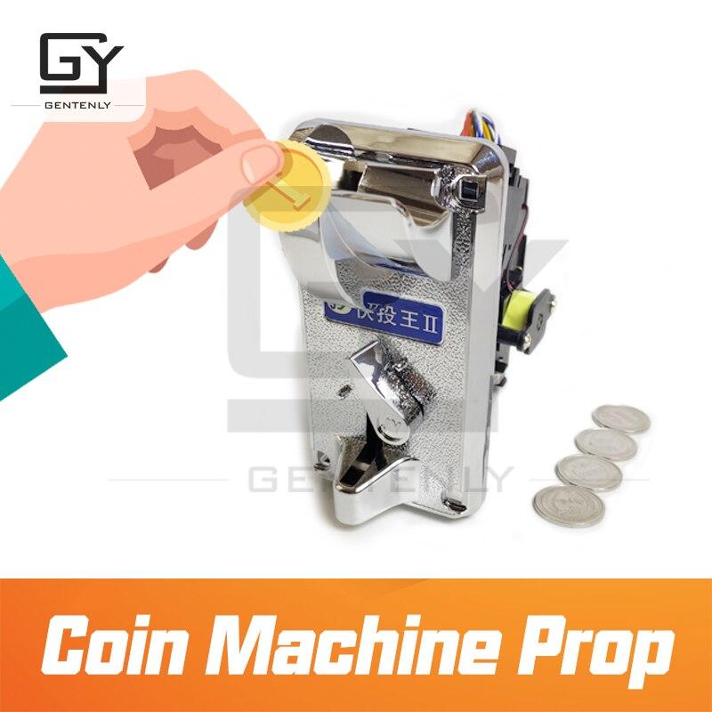 Escape room prop coin machine prop insert coin into the slot to unlock escape game drop