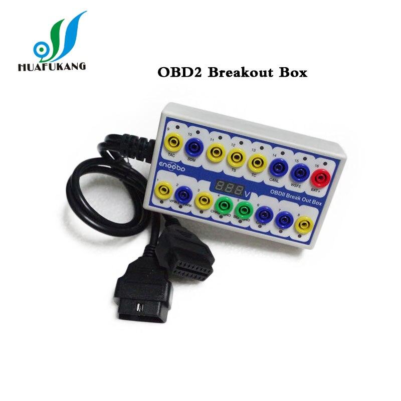 OBDII OBD2 Protocol Detector /& Break Out Box Tester diagnosed OBD connector link