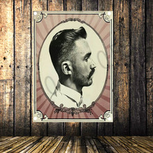 Large Tattoo Hairstyle Hairdressers Flag Cloth Banners Wall paintings Retro Poster Mural Barber Shop Background Decor