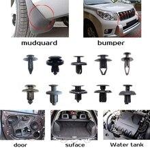 Abrazadera de sujeción mixta de coche de plástico de 100 Uds., clip de parachoques de coche, remache de panel de puerta, forro de guardabarros para Honda Toyota AUDI