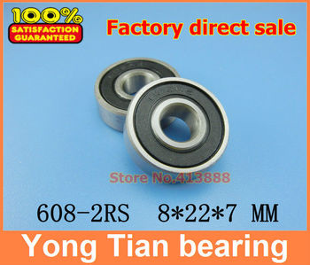 (1pcs) High quality deep groove ball bearing double rubber sealing cover 608-2RS mm image