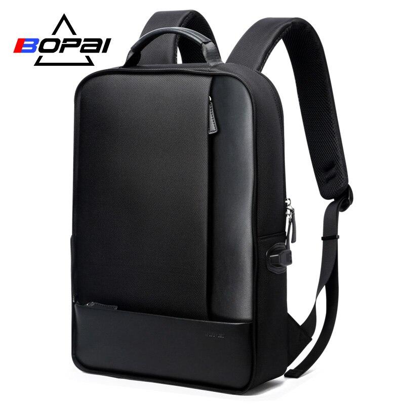BOPAI Повседневное кожи туристические рюкзаки с 15,6 дюймов рюкзак для ноутбука 2 в 1 Многофункциональный Для мужчин Ежедневно Применение дорож...