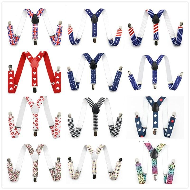 Mantieqingway милые красочные Подтяжки для женщин для маленьких детей Обувь для мальчиков и Обувь для девочек Брекеты 3 Clip-On y-обратно брекеты упру...