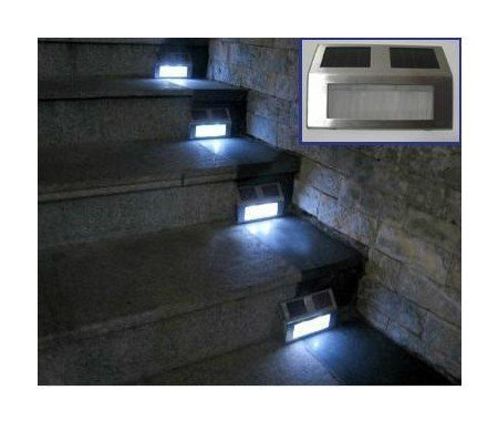 Solar energy stair lamp LED solar powered step light for outdoor using 50pcs/lot Free shipping