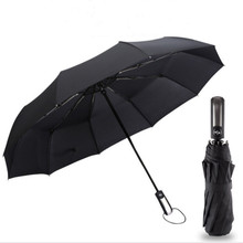 Black Big Golf Automatic Folding Umbrella Female Male Rain Women Strong Large Umbrellas Men Windproof For The Sun