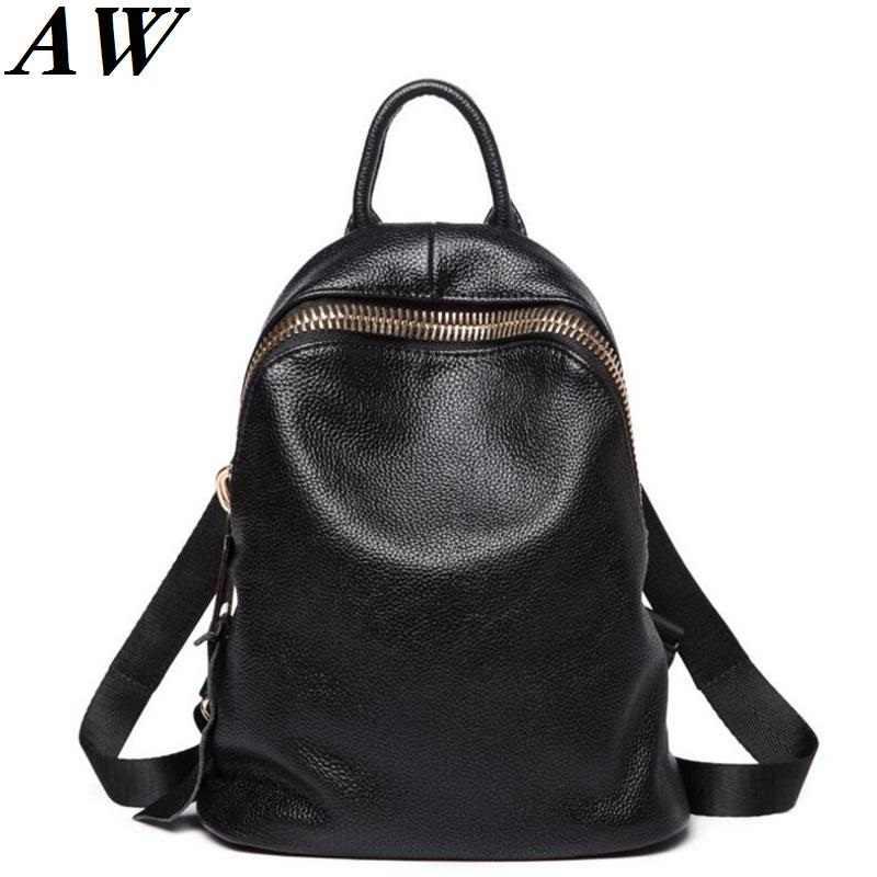 8836999f8d79 Женский рюкзак из натуральной кожи для девочек 2019 рюкзаки черные школьные рюкзаки  женские модные сумки для