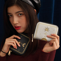 Princess sweet lolita bag Star Wallet Fashion Embroidery Zipper Small Wallet Multi card lovely and casual wallet women LLD091