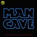Blue Man Cave Sinal de Néon Neon Tubo De Vidro Lâmpadas de Artesanato Loja Exibição Anunciar Placas de Exposição de Vidro personalizado sinais de negócios 31x22