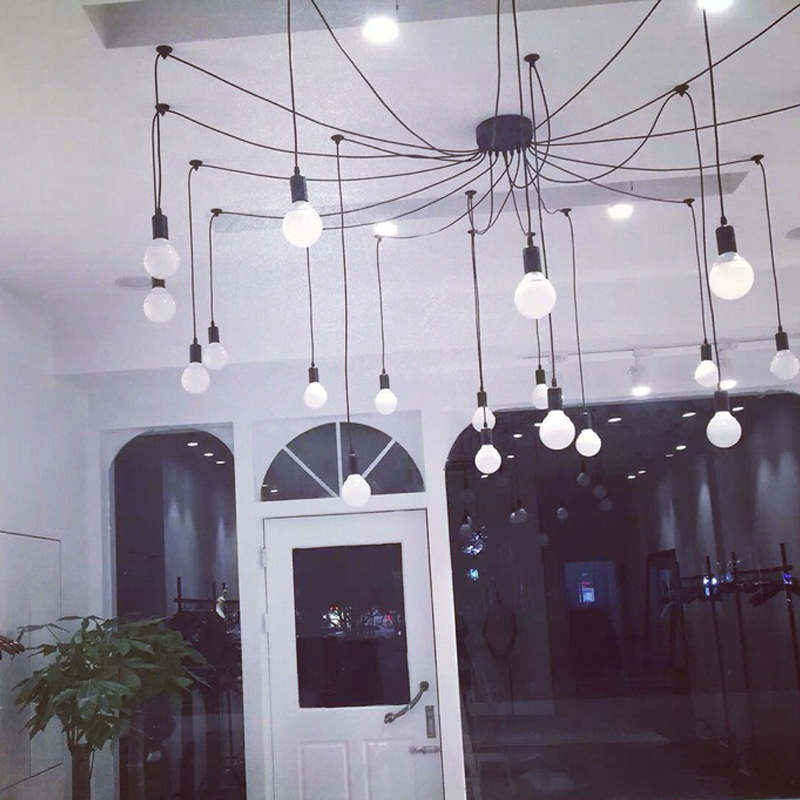 Retro industry pendant lights clothing store dining room bedroom spider creative person 6/8/10/16/20 heads  Pendant Lights ZA|industrial pendant light|pendant lights|retro industrial - title=
