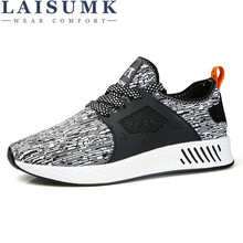2019 LAISUMK High Quality Men Breathable Casual Shoes Fashion Mans Luxury Designer Male For Adults Big Size 39-44