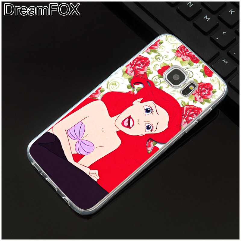 DREAMFOX M550 Mermaid Soft TPU Silicone Case Cover For Samsung Galaxy Note S 5 6 7 8 9 10 10e Lite Edge Plus Grand Prime in Fitted Cases from Cellphones Telecommunications