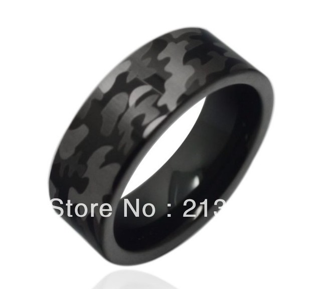 FREE SHIPPING USA HOT SELLING E&C TUNGSTEN JEWELRY NEWEST DESIGN CAMOUFLAGE COLOR MENS TUNGSTEN CARBIDE WEDDING MILITARY RING