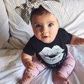 Recém-nascidos 2 pcs Roupas Terno Do Bebê Das Meninas Dos Meninos Da Criança Crianças T-shirt Tops + Pants Outfit