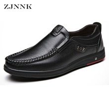 hot deal buy zjnnk genuine leather casual shoes handmade men leather shoes skid-proof classical moccasins for male business casual shoes